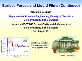 Surface Forces and Liquid Films (Continued)
