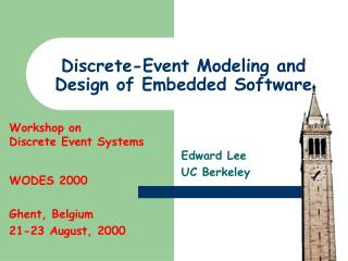 Discrete-Event Modeling and Design of Embedded Software