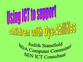 Using ICT to support