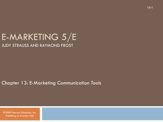 E-Marketing 5/E Judy Strauss and Raymond Frost