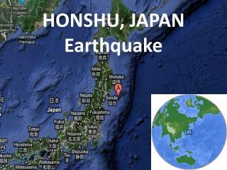 HONSHU, JAPAN Earthquake