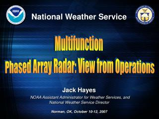 Multifunction  Phased Array Radar: View from Operations