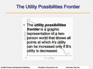 The Utility Possibilities Frontier