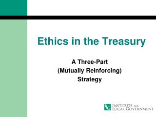 Ethics in the Treasury