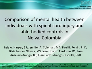 Spinal Cord Injury SCI and