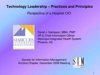 Technology Leadership – Practices and Principles