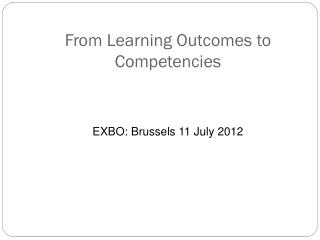 From Learning Outcomes to Competencies