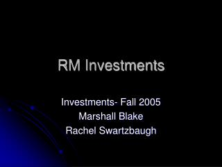 RM Investments