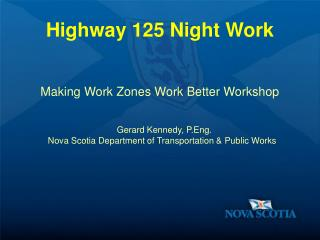 Highway 125 Night Work