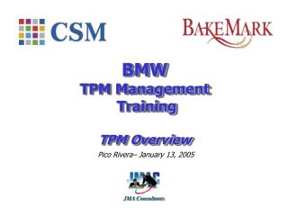 BMW  TPM Management  Training TPM Overview
