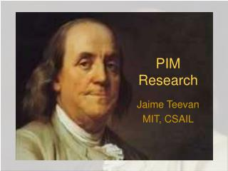 PIM Research
