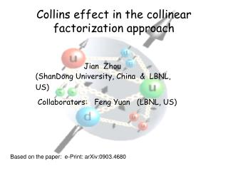 Collins effect in the collinear factorization approach