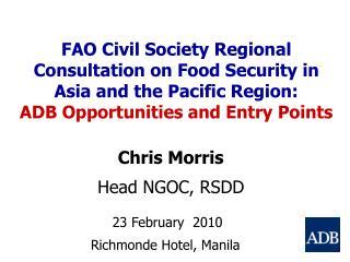 Chris Morris Head NGOC, RSDD