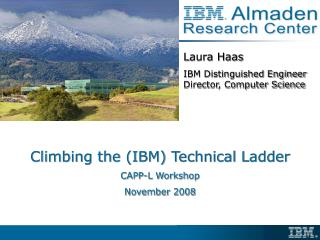 Climbing the (IBM) Technical Ladder CAPP-L Workshop November 2008