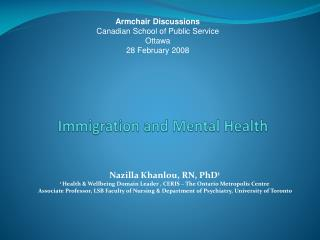 Immigration and Mental Health