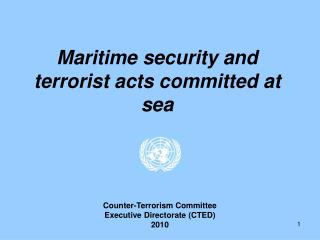 Maritime security and terrorist acts committed at sea