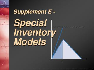 Supplement E - Special Inventory Models