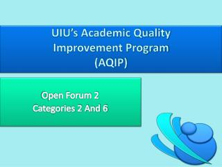 UIU's Academic Quality  Improvement Program  (AQIP)