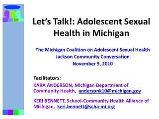 Let's Talk!: Adolescent Sexual Health in Michigan