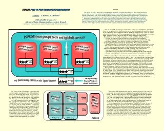P2PSDE : Peer-to-Peer Science Data Environment Authors :  J. Byrnes, M. Holland