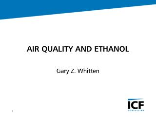 AIR QUALITY AND ETHANOL