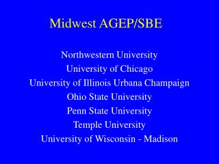 Midwest AGEP/SBE