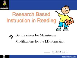 Research Based  Instruction in Reading