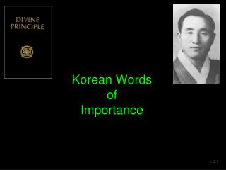 Korean Words  of  Importance