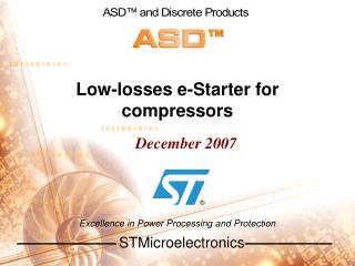 Low-losses e-Starter for compressors