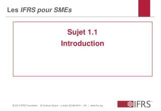 Les  IFRS pour SMEs