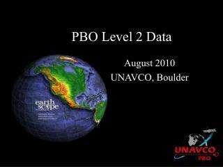 PBO Level 2 Data