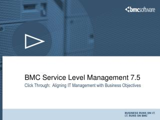 BMC Service Level Management 7.5