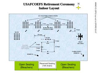USAFCOEFS Retirement Ceremony Indoor Layout