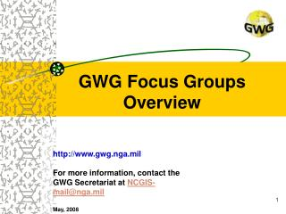 GWG Focus Groups  Overview