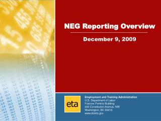 NEG Reporting Overview December 9, 2009