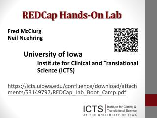 REDCap Hands-On Lab