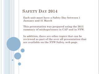 Safety Day 2014