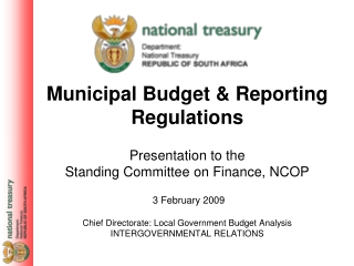 Municipal Budget  Reporting Regulations