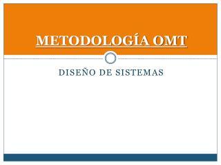 METODOLOGÍA OMT