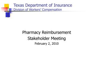 Texas Department of Insurance Division of Workers' Compensation