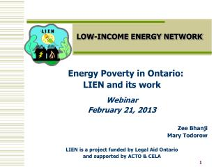 LOW-INCOME ENERGY NETWORK