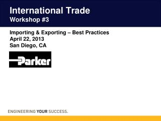 International Trade Workshop #3