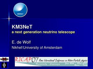 KM3NeT a next generation neutrino telescope
