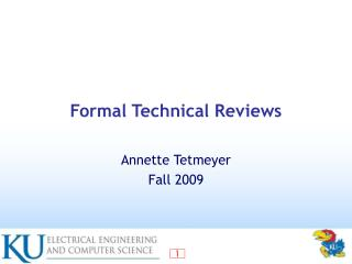 Formal Technical Reviews
