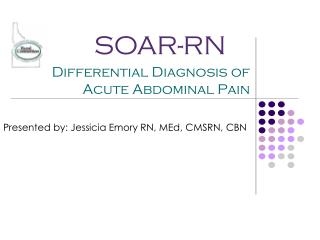 Differential Diagnosis of Acute Abdominal Pain