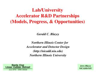 Lab/University  Accelerator R&D Partnerships (Models, Progress, & Opportunities)