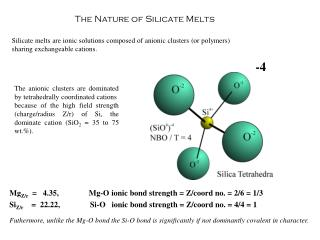 The Nature of Silicate Melts