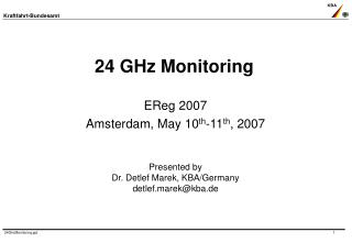 24 GHz Monitoring