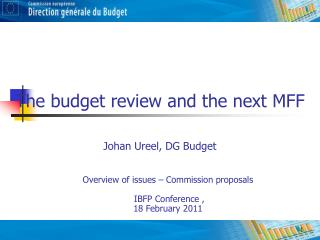 The budget review and the next MFF