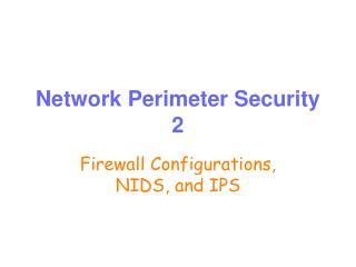 Network Perimeter Security 2